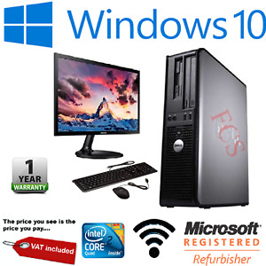 DELL QUAD CORE DESKTOP SFF PC COMPUTER BUNDLE WINDOWS 10, 4GB RAM, 120GB SSD
