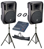 """Studiomaster Drive 12"""" 8 Channel 2400W Active Band PA System"""