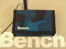 BENCH Tri-fold Secure Wallet Abstract Large Mix Navy Canvas Coin ID Wallets BNWT