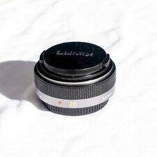 Panasonic Lumix G 20mm f/1.7 II ASPH - Noir - Très bon état - objectif micro 4/3
