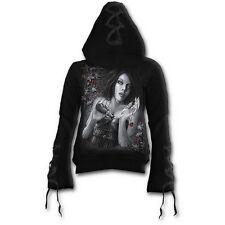 Gothic Spiral Hoodie Shirt Schwarz Stone Cold Gr. S Kapuzenpulli Bändchen