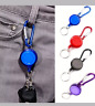 Stainless Silver Retractable Key Chain  Key-ring Heavy Duty Steel Pack