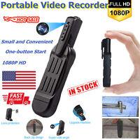1080P HD Mini Pocket Pen Camera Hidden Spy Portable Body Video Recorder DVR REC