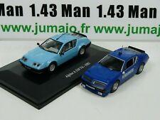 Lote 2 1/43 ist Deagostini Alpine Renault A310 V6 Policía + Civil ALP1M+PM9K