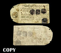 Nepal 1881,Cover, the only known stamp of Nepal's  2-anna purple.$20000,Copy