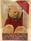 "Ralph Lauren Teddy Bear - The Bear that Cares 15"" tall"