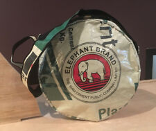 Elephant Brand Recycled Round Cross Body Bag made from Cement Bags in Cambodia