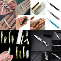 Stainless Steel Mini Folding Pocket Knife Keychain Blade Outdoor Survival Tool