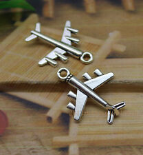 8pcs Alloy delicate lovely model plane pendant a want to go to the place