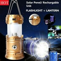 2 Way LED Camping House Emergency light lantern or flashlight usb solar panel