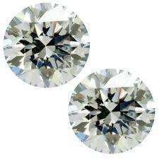 1.74 TCW PAIR 6.20MM VVS1 White H MOISSANITE Sub to DIAMOND for Stud EARRINGS
