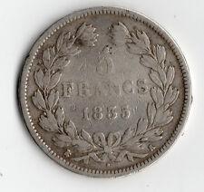 TOP RARE MONNAIE / ECU 5 FRANCS ARGENT LOUIS PHILIPPE DE 1835 K @ BORDEAUX RARE
