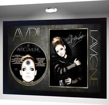 Avril Lavigne Pop Punk Queen SIGNED FRAMED PHOTO CD Disc Avril L Perfect gift