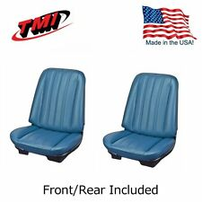 1966 Chevelle Coupe Blue Bucket Seat & Rear Bench Upholstery by TMI