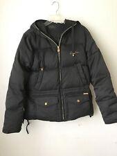 Sean John Womens Coat M Medium Puffer Jacket Black w Hood Winter