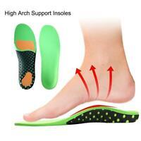 3D Orthesen Plattfüße Fuß High Arch Gel Fersenstütze Schuheinlegesohlen Pads