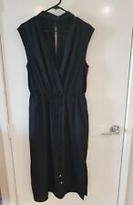 PORTMANS Size 10 Black High Neck Collar Women's Dress Long