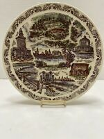 Vernon Kilns Oakland California  Plate Collectible Vintage Transferware China