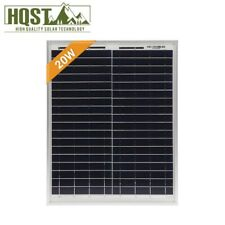 HQST 20W 12V Poly Solar Panel 20 Watts High Efficiency Module Motorhome RV Boat