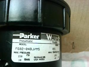 "Parker F602-04BJ/M5 Watts Pneumatic Filter 150psi 1/2"" Npt New"