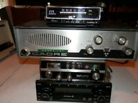 Electronic collection various CB radios, FM converter, VW car radio, lot