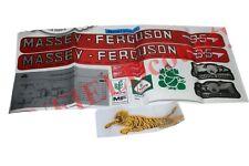 Nuovo Cofano Decalcomania Emblema Adesivo Kit Set Massey Ferguson 35 Trattori