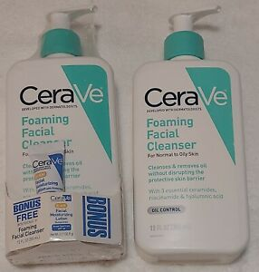 CeraVe Foaming Facial Cleanser For Normal To Oily Skin 12 fl oz New