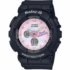 Casio Baby-G Women's G-Shock Analog-Digital BA120T-1A Watch Black Timepiece s