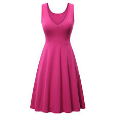 Women Sexy V-neck Pleated Mini Dress Summer Casual Party Sundress with Pockets