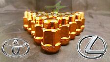 20 ORANGE LUG NUTS 12X1.5 | FITS- TOYOTA, LEXUS, SCION, AFTERMARKET WHEELS LUGS