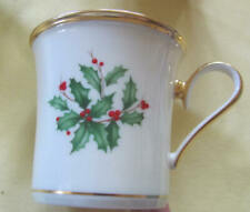 New Listing4 Lenox Holiday coffee mugs with gold trim