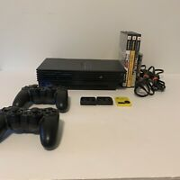 Original Sony PS2 Bundle Playstation 2 Console 2 Pelican Controllers 4 Games