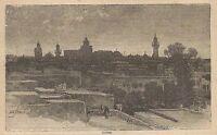 A0013 Tunisi - Veduta - Stampa Antica del 1907 - Xilografia