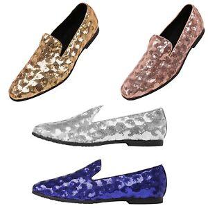 Amali Sequin Swirl Pattern Slip On Smoking Loafer Designer Men Tuxedo Dress Shoe