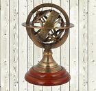 Vintage Brass Engraved Tabletop Armillary Horoscope Sphere Nautical Globe Decor