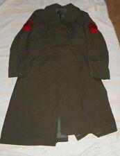 Military Overcoat Men's Wool Serge Green As Is