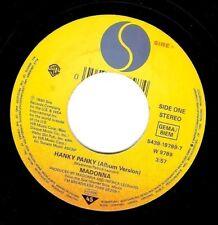 Madonna Hanky Panky Vinile Record 7 in (ca. 17.78 cm) GERMAN SIRE W 9789 1990