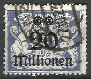 Germany Danzig 1923 Used - Defin Inflation 20 Mio optd on 10 000 M Mi-170 SG-153