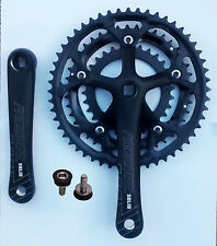 three 3 speed  black road bike / racing bike Triple Chainset / Crankset 30 42 52