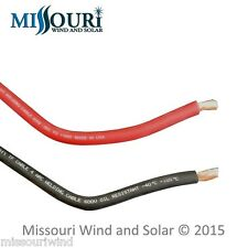 # 4 welding cable 2 -30 foot lengths red and black for battery PV wind turbine