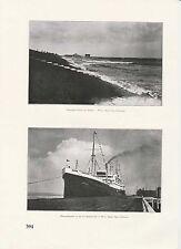 """Cuxhaven oltremare vaporetti """"Amburgo"""" atterraggio PONTE ORIGINALE pressione di 1926"""