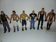 WWE Mattel Stone Cold, Rock,Undertaker, Styles,Cena  lot then Now Forever
