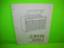 Rock Ola 450 451 Jukebox Phonograph Music Parts List Catalog Original 1970