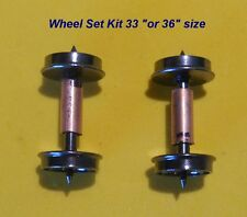 "HO Electrical Pick Up Wheels 33"" Smooth Back:2 Wheel Sets with 2 Copper collars"