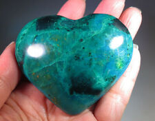 "2.6"" Large Natural Chrysocolla with Malachite CRYSTAL Gemstone Heart *0504"