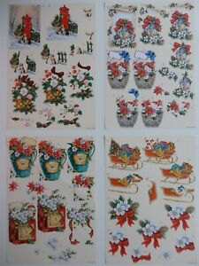 """Christmas Decoupage Sheet with 2 Designs """"Xmas Celebrations"""" (Choice of 4)"""