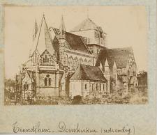 Norvège, trondheim, dom, la cathédrale vintage albumen print,Photos provenant