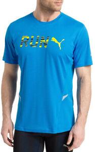 Puma Run Mens Short Sleeve Running Top - Blue
