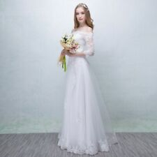 modern style off shoulder wedding dress romantic lace bridal gown