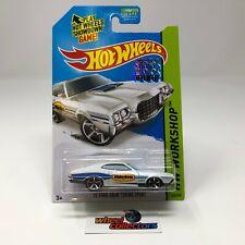 '72 Ford Gran Torino Sport #248 * White * 2014 Hot Wheels Factory Set * R32